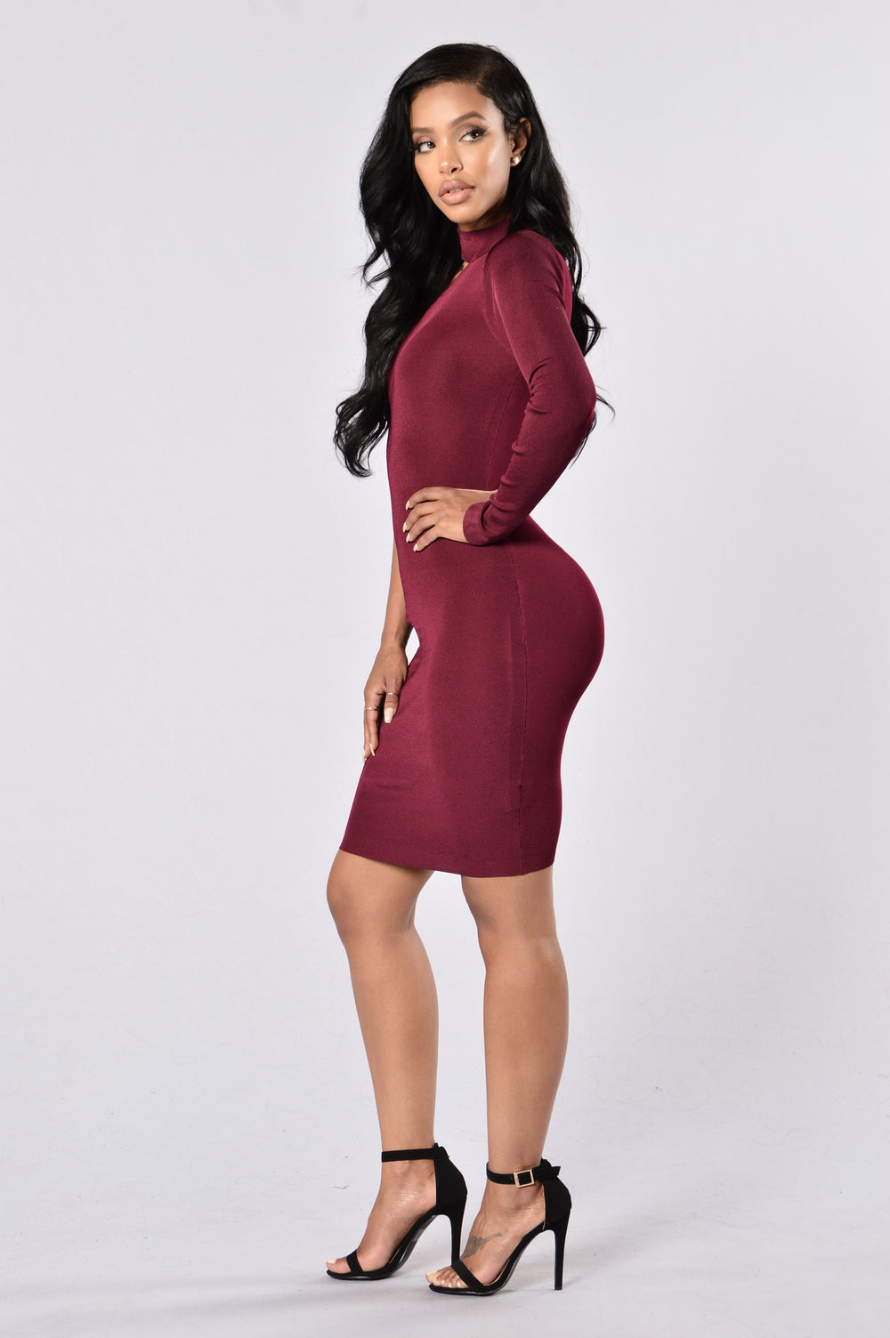 Single And Ready To Mingle Dress - Burgundy