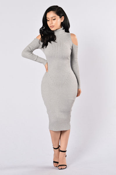 Second Date Dress - Heather Grey