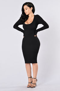 The Hottest Ex Dress - Black Angle 3
