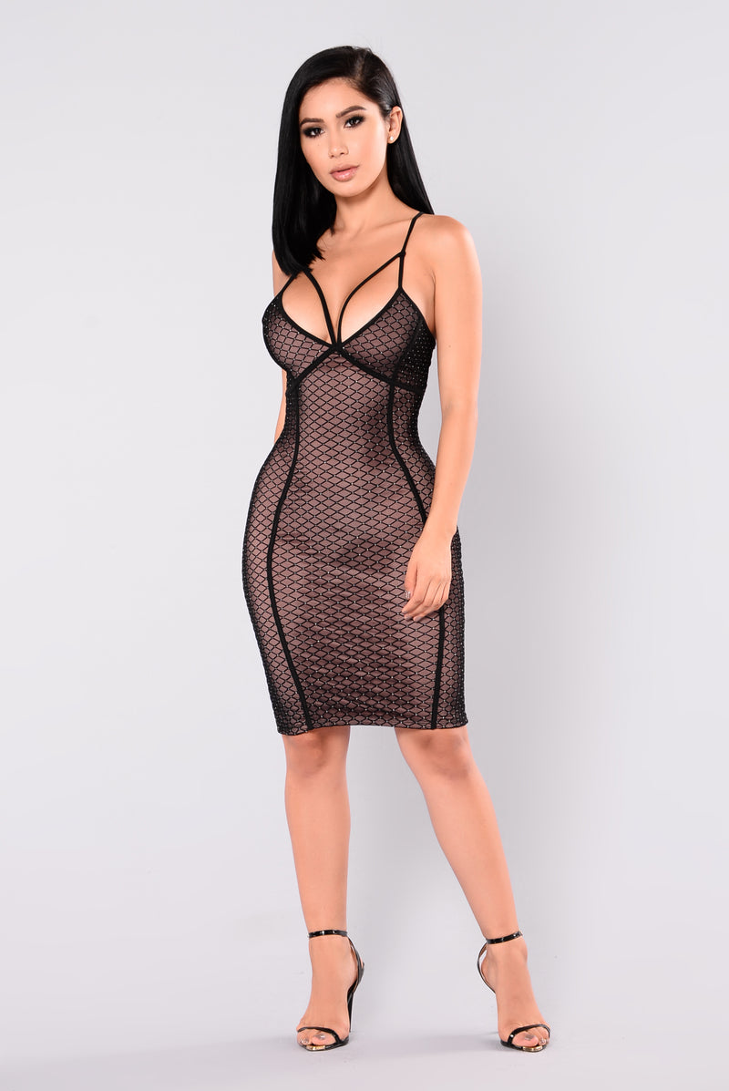 Lexi Mesh Dress - Black