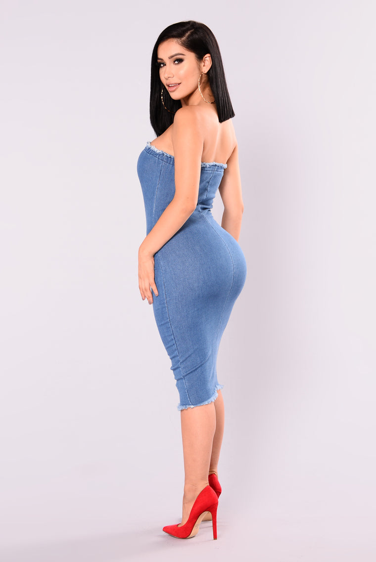 Jordyn Denim Dress - Denim