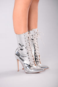 Brandy Booties - Silver