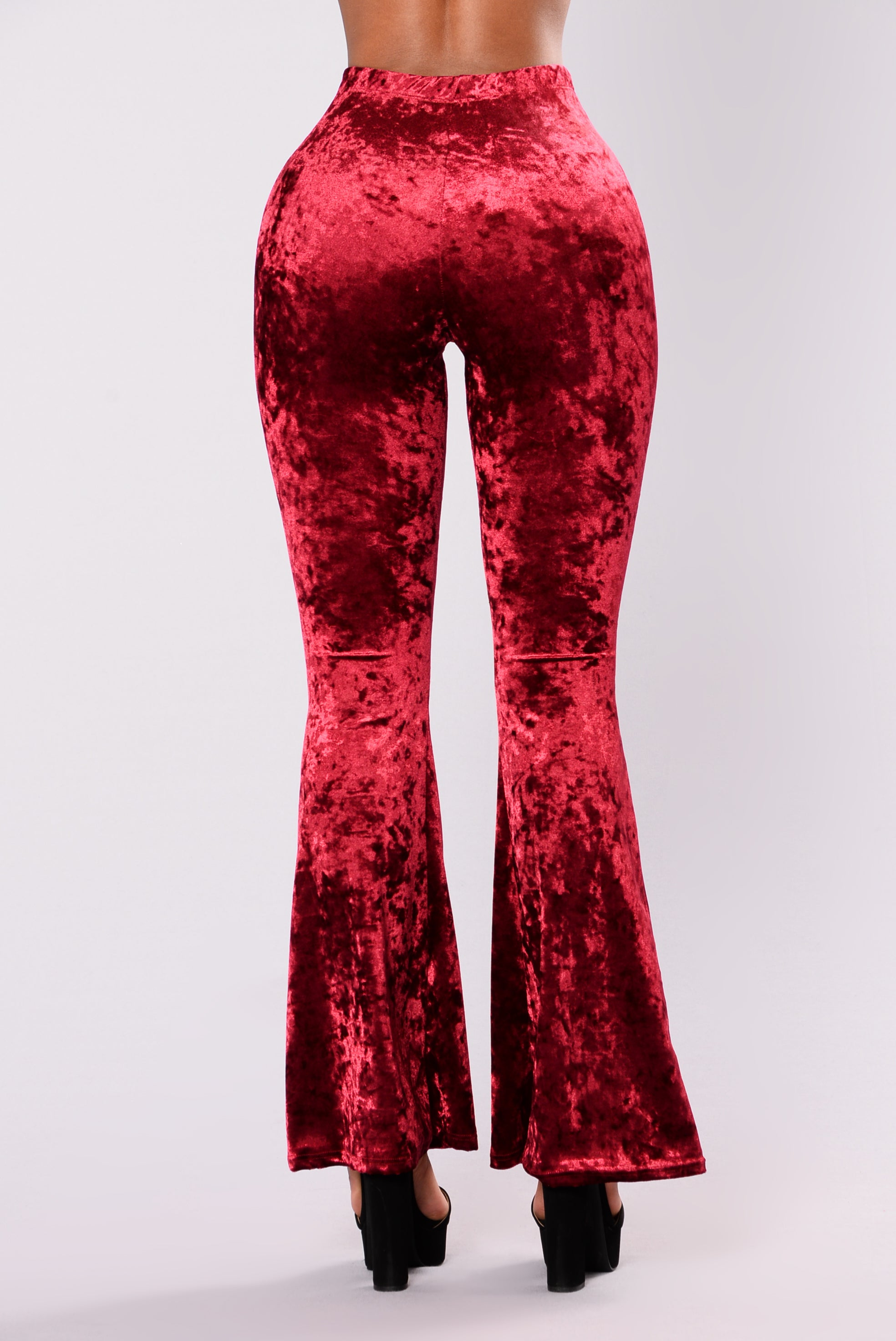 Karlianna Velvet Pants Burgundy