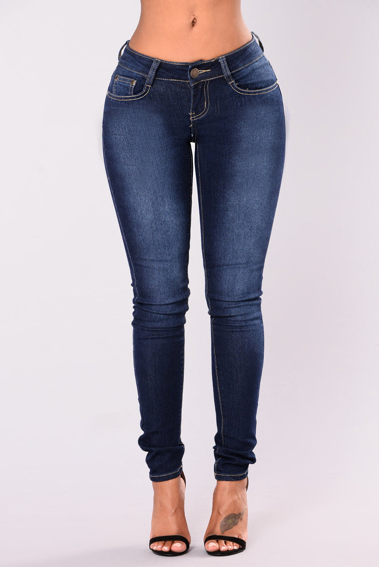 Alysa Skinny Jeans - Dark Denim
