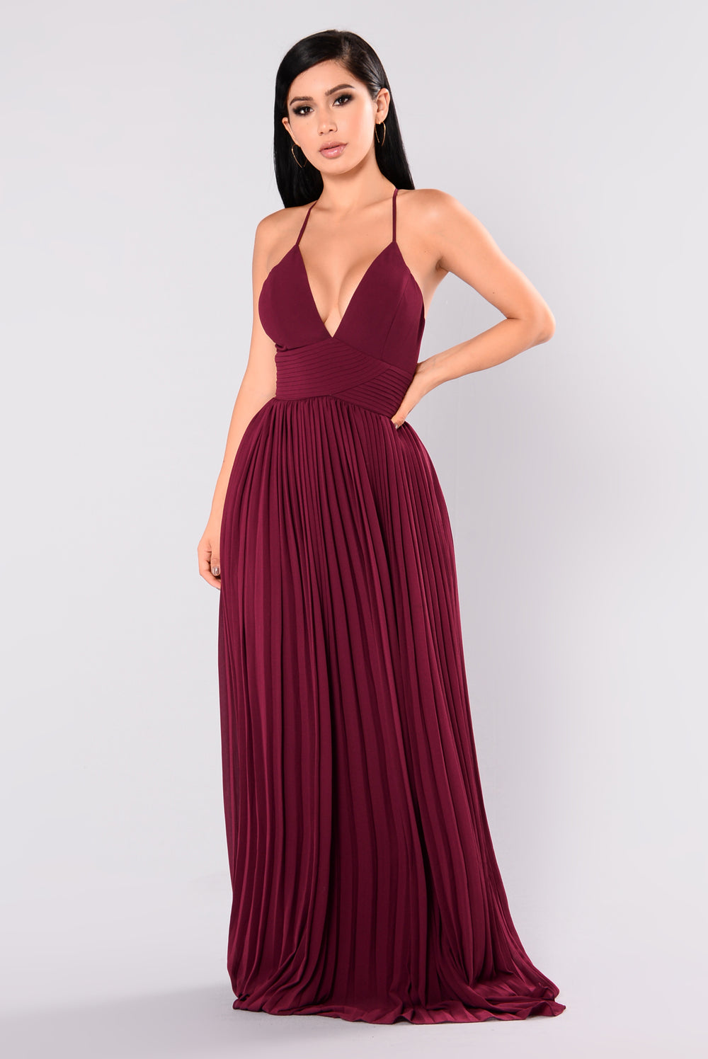 Lure Maxi Dress - Wine