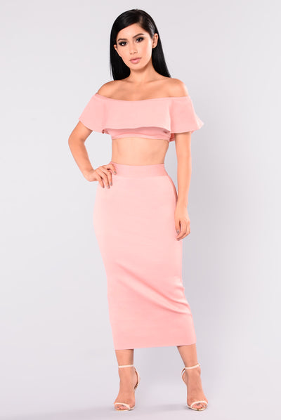 Swept Away Bandage Top - Dusty Pink