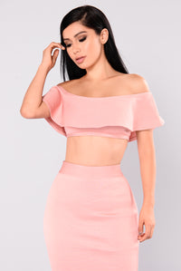 Swept Away Bandage Top - Dusty Pink Angle 1