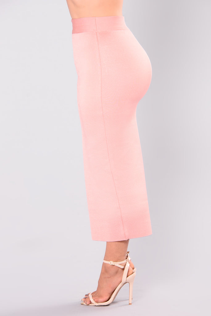Swept Away Bandage Skirt - Dusty Pink