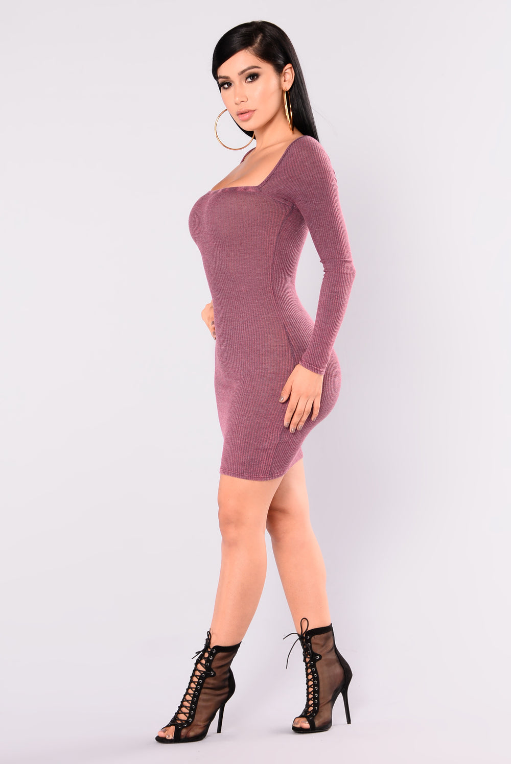 Adriana Mineral Wash Dress - Burgundy