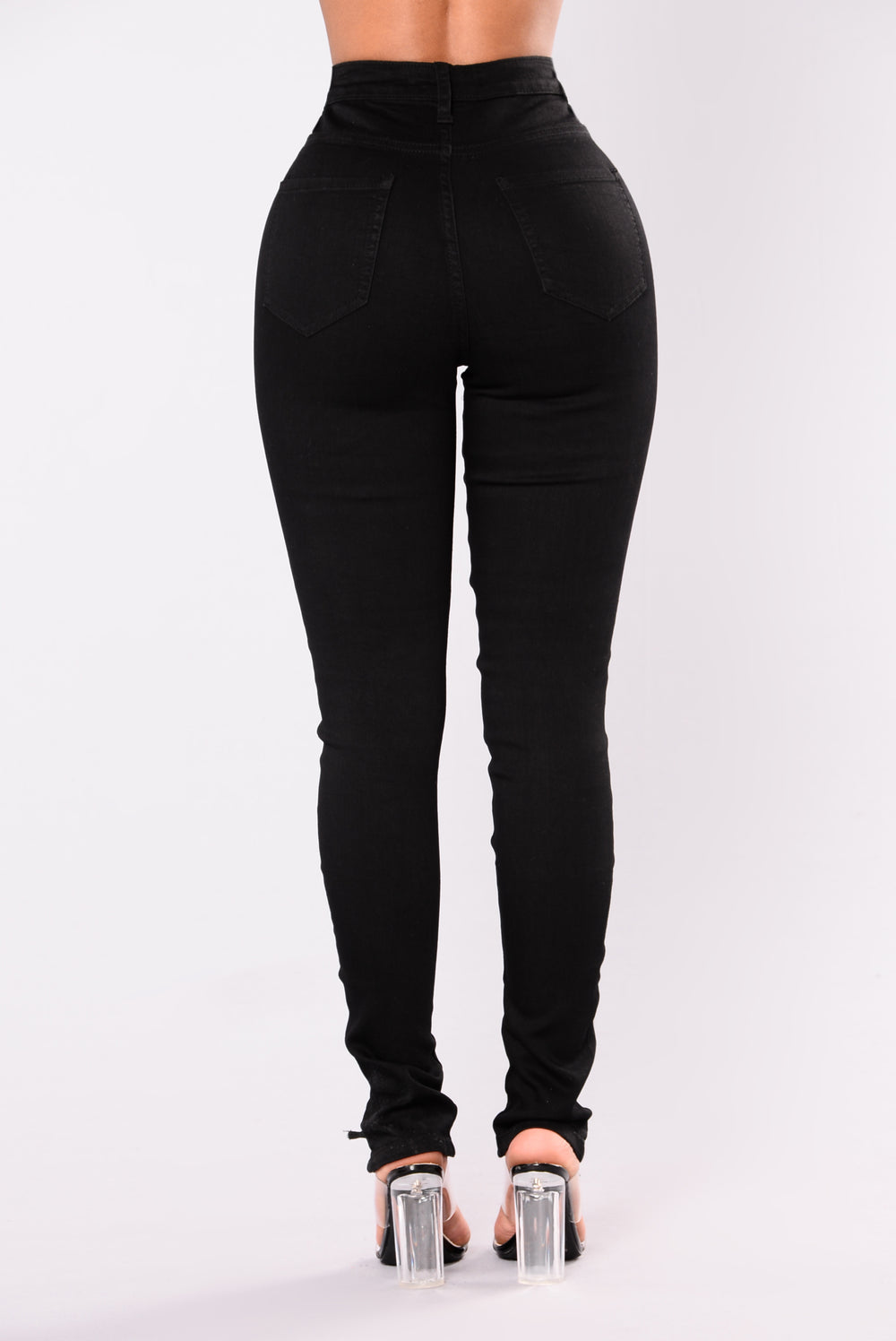 Kylee Lace Up Jeans - Black