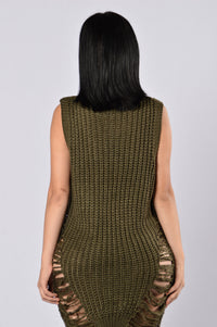 Stay In Sweater - Olive