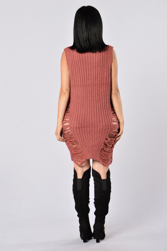 Stay In Sweater - Mauve