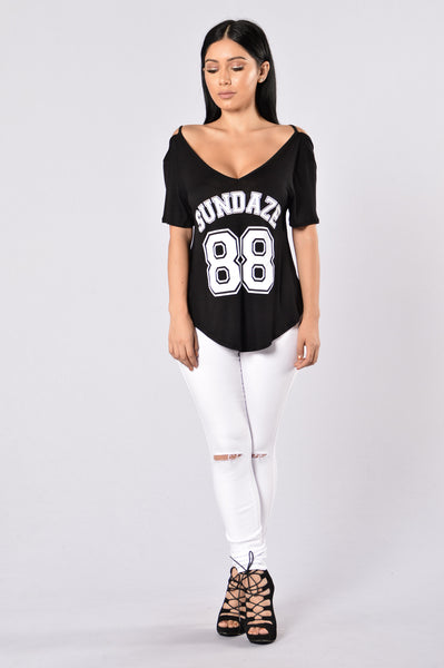 Sweet Sundaze Top - Black