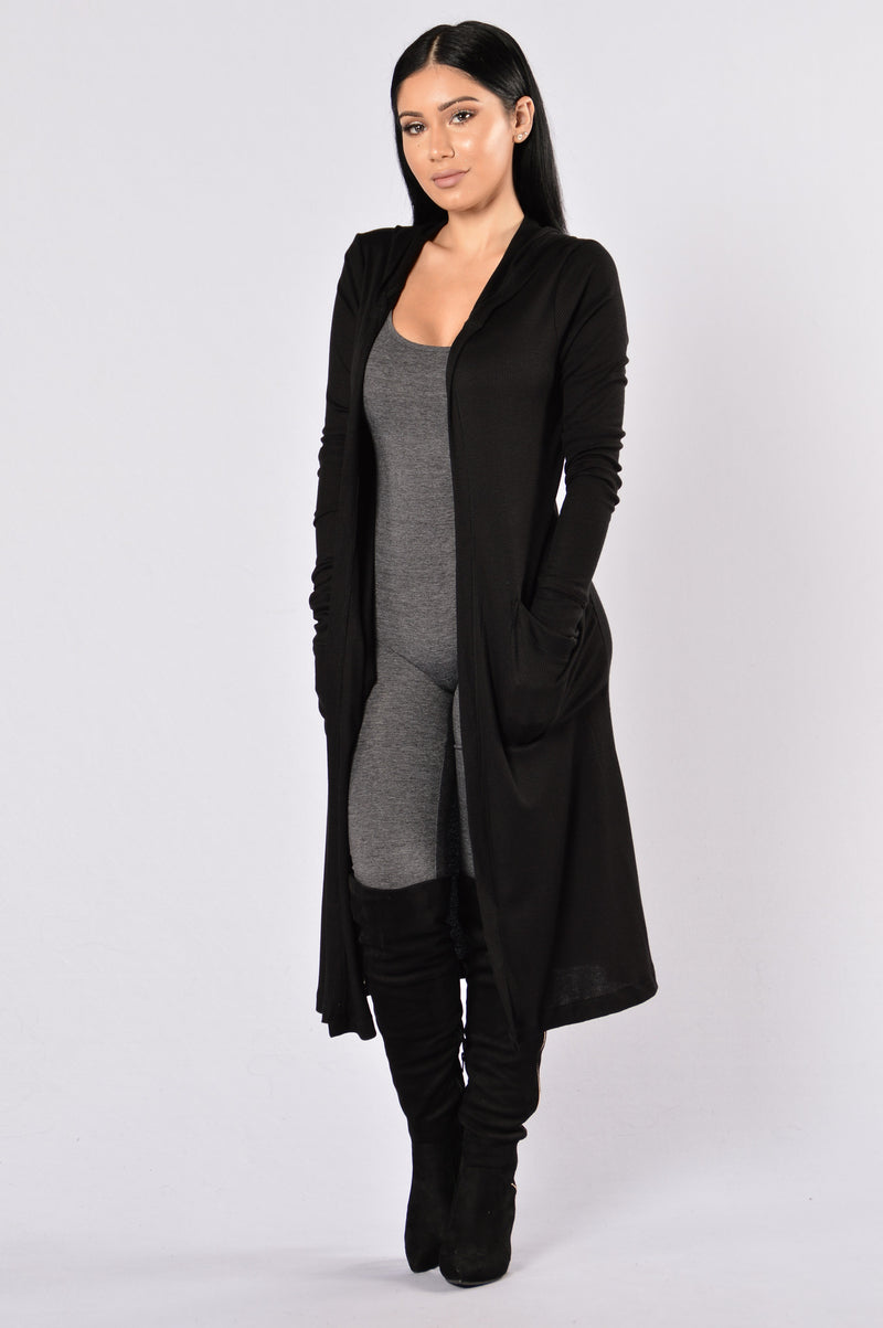 Sunday Kind Of Love Duster Jacket - Black