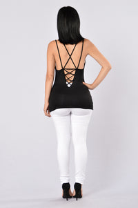 Caught In The Act Tank Top - Black Angle 5