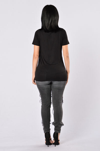 Inside Scoop Tee - Black