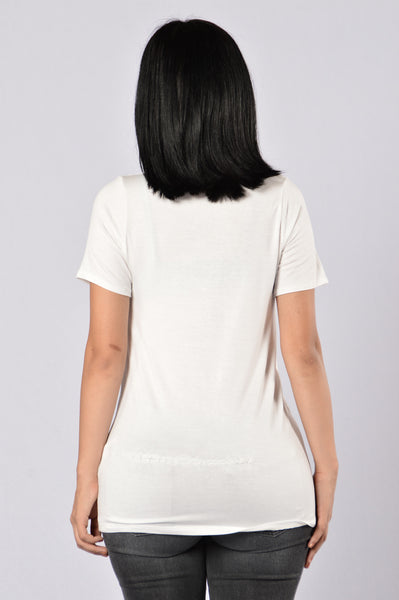 Inside Scoop Tee - Ivory