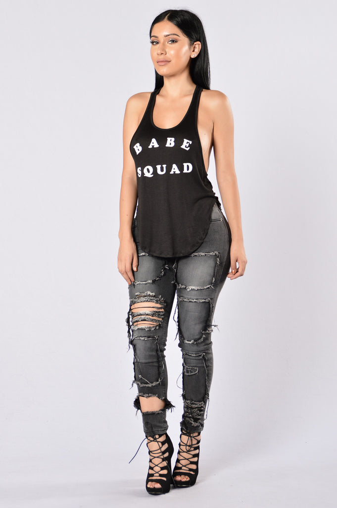 Babe Squad Top - Black