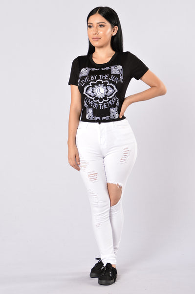 Live By The Sun Crop Top - Black
