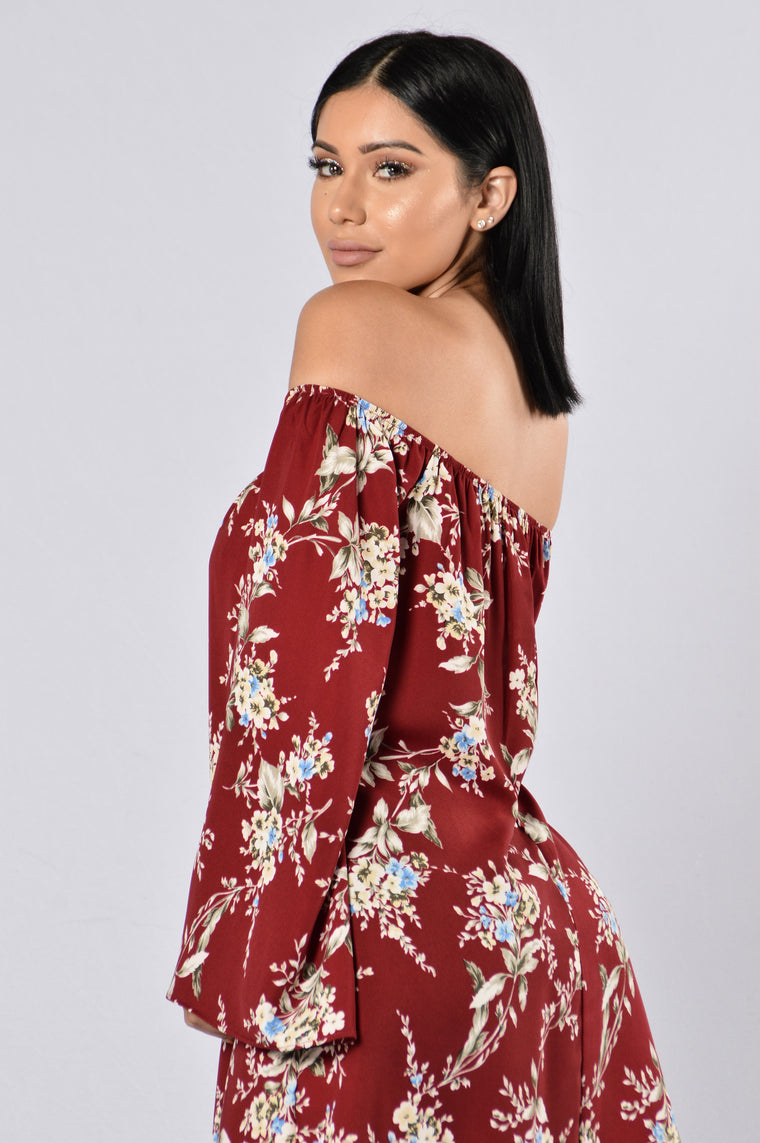 Saved By The Bell Dress - Burgundy