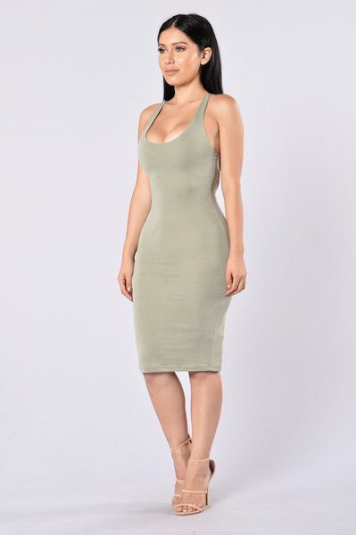 Back To Business Dress - Olive