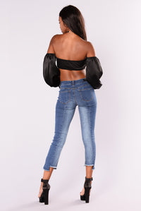 Giovanna Ankle Jeans - Medium Blue Wash
