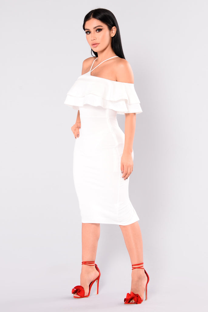 Yesenia Flounce Dress - White
