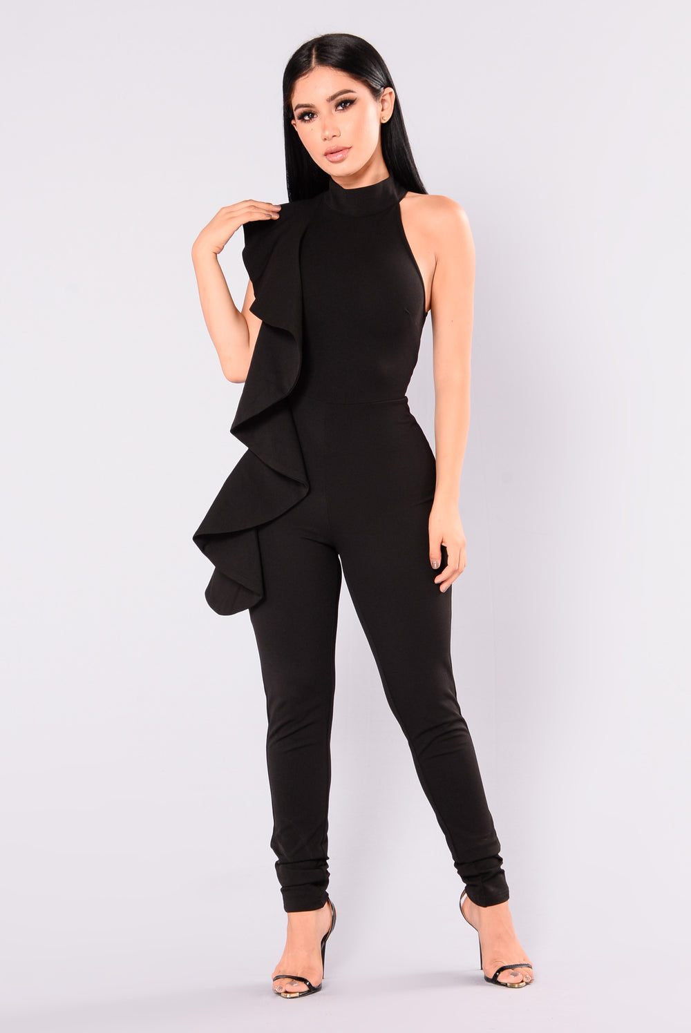Ruffle Off-the-Shoulder Jumpsuit. 2 Colors. WEB EXCLUSIVE. QUICK VIEW. BACK IN STOCK. $ Plunging Studded Jumpsuit. 2 Colors. WEB EXCLUSIVE. QUICK VIEW. $ black sheer jumpsuit. womens high-rise jeans. dresses women. wrap .