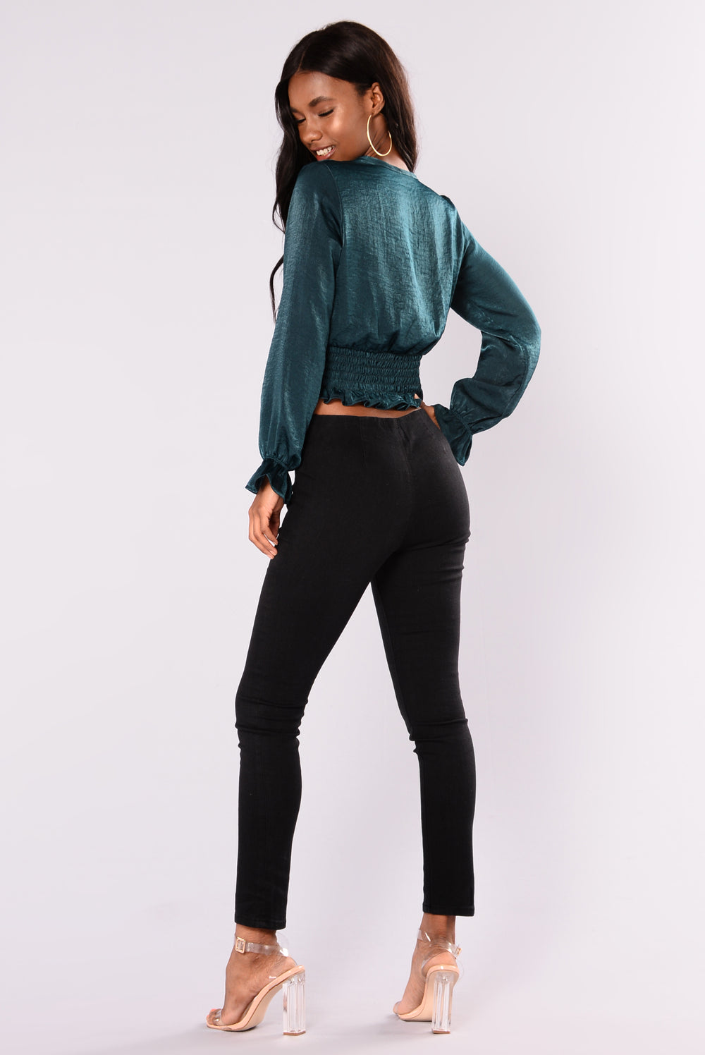 No Self Control Jeggings - Black
