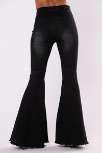 Baby Don't Go Boot Jeans - Black