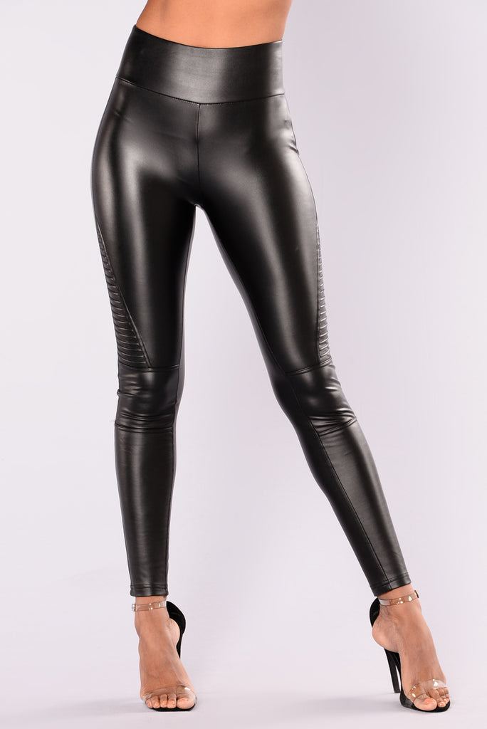 Do More Moto Leggings - Black