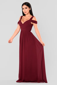 Sophistication Maxi Dress - Wine