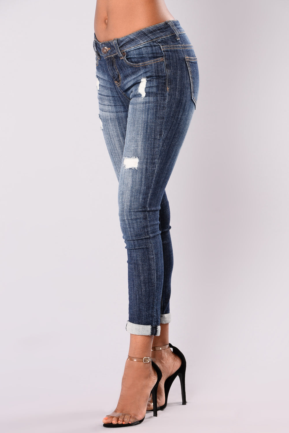 All I Do For You Crop Jeans - Dark Wash