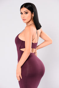 Matilda Midi Dress - Dark Burgundy