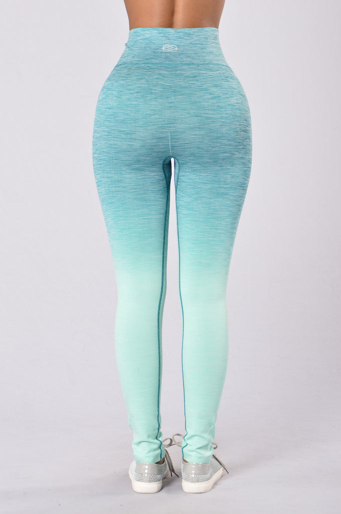 Double Dip Leggings - Turquoise
