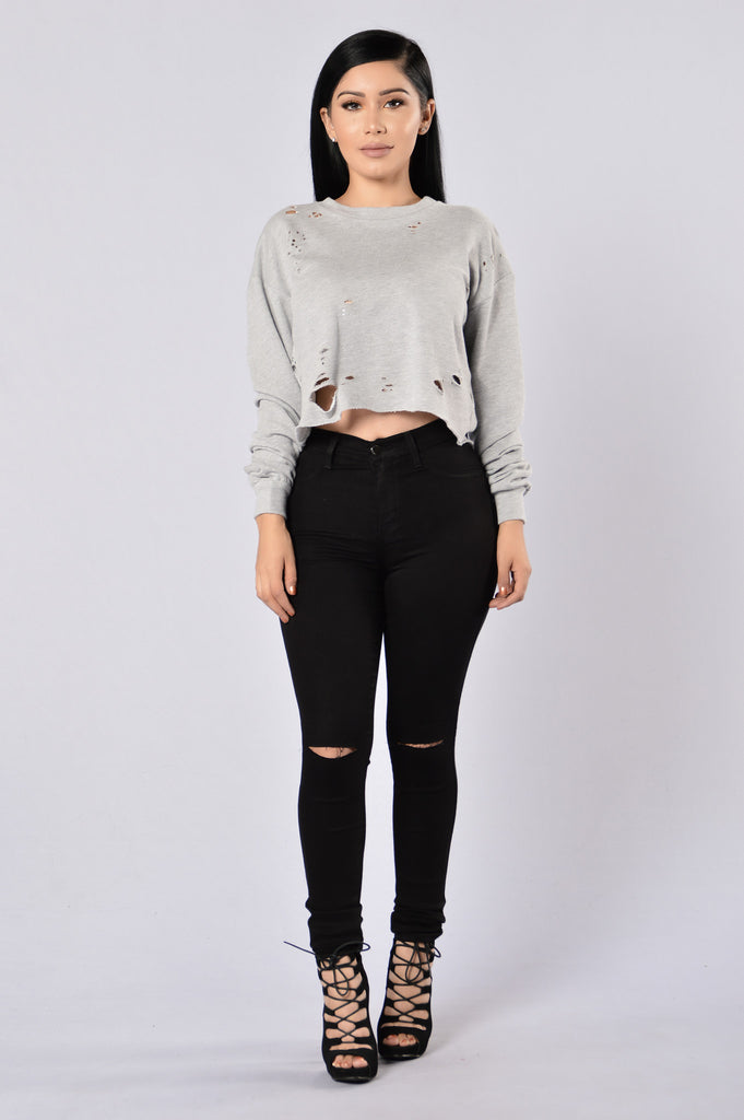 Deep Down Sweater - Heather Grey