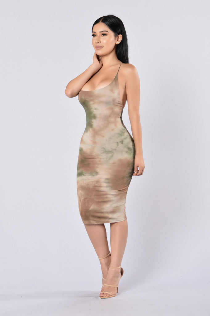 Hippie Chic Dress - Olive