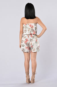 Island Girl Romper - Kauai Natural