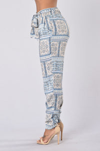 Follow The Moon Pants - Block Paisley