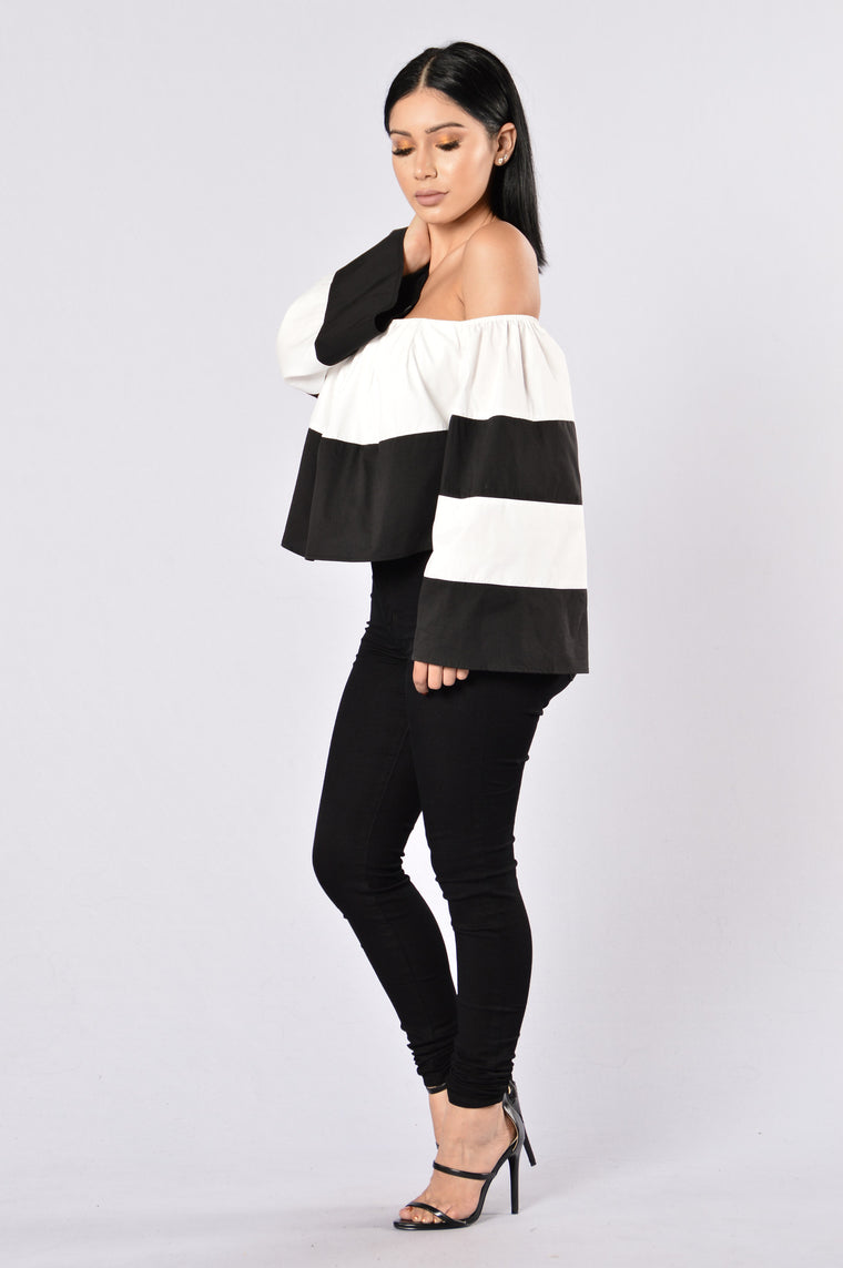 Writers Block Top - White/Black