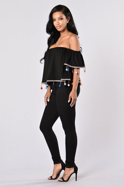 Party Time Top - Black