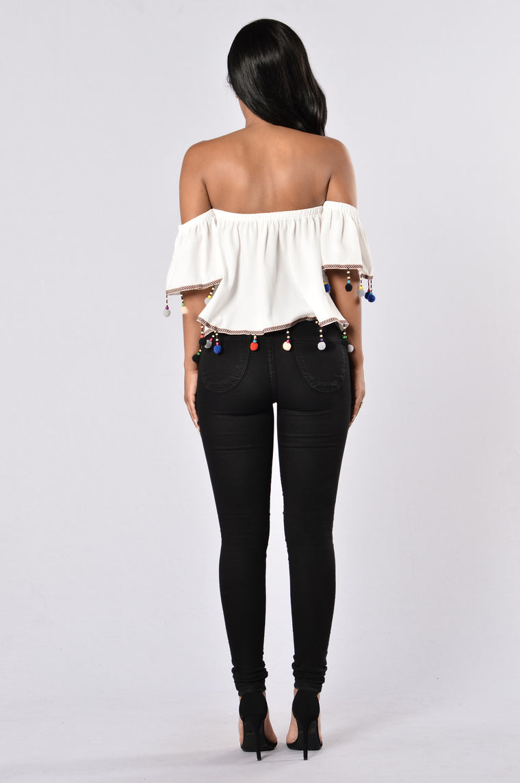 Party Time Top - White