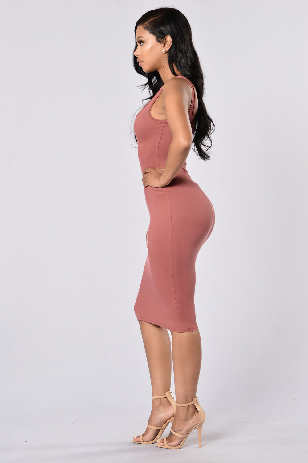 Check This Out Dress - Mauve