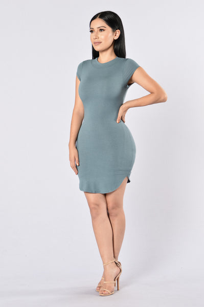 Saturday Night Dress - Aqua