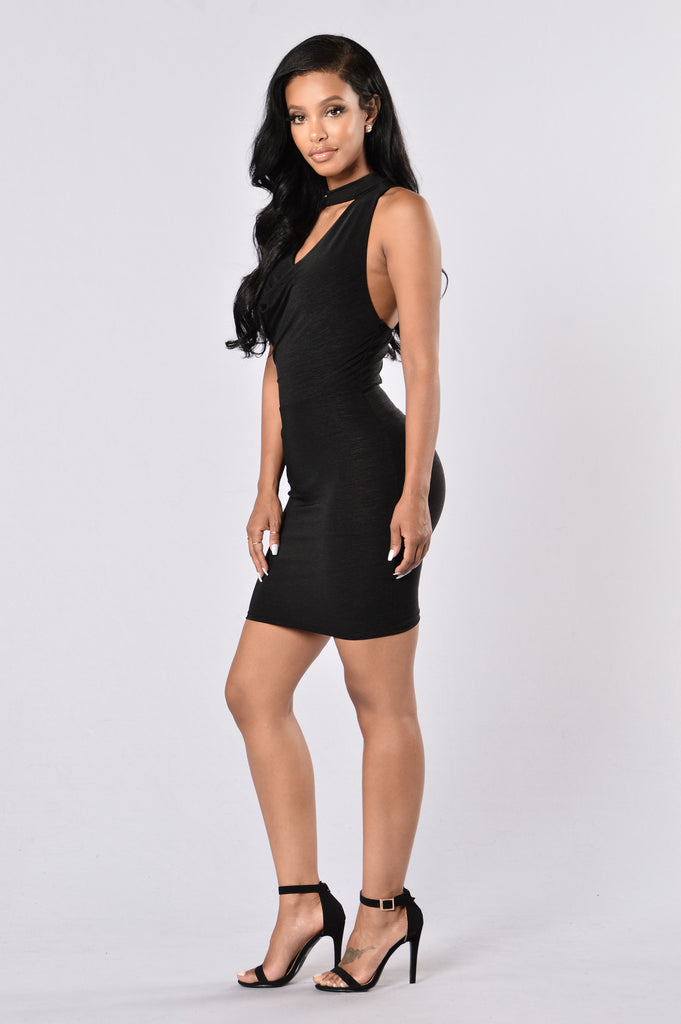 Looking For Trouble Dress - Black