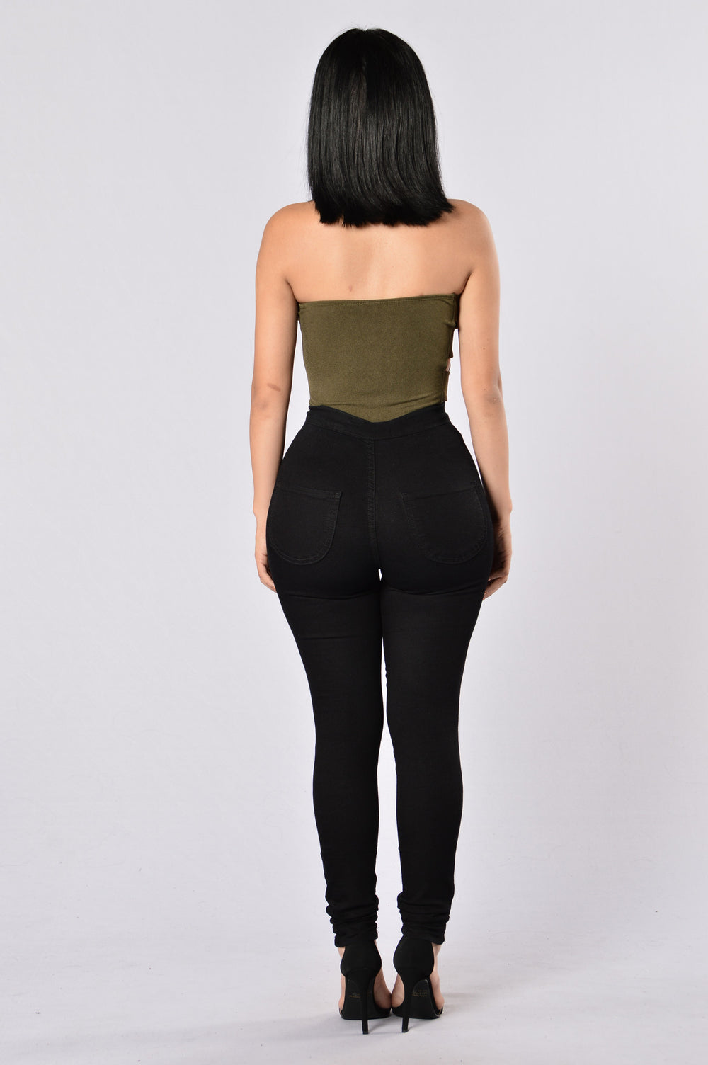 Sexy Side Bodysuit - Olive