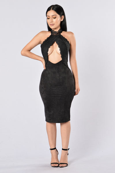 Lover's Lace Dress - Black