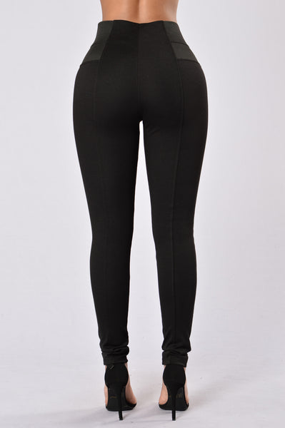 Easily Amused Ponte Pants - Black