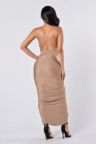 Doing The Most Dress - Mocha