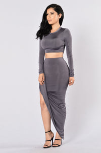 Internet Famous Skirt - Charcoal
